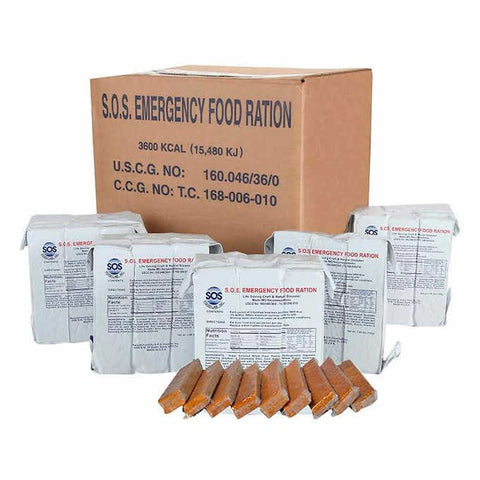 SOS Emergency Ration Bar Case 20 Rations - 3600 Kcal