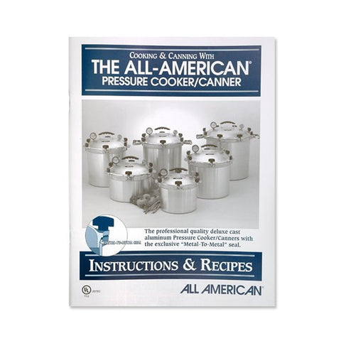 All American Canner #74 Instruction & Recipe Book