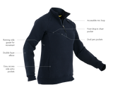 FIRST TACTICAL WOMEN'S COTTON JOB SHIRT QUARTER ZIP