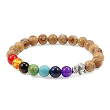 Load image into Gallery viewer, 7 Chakra Bracelet Charm Natural Stone Men Women Lava Rock Wooden Elephant Buddha Beads Bracelets Yoga Meditation Jewelry Bangle