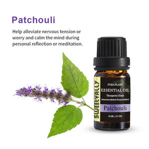 patchouli 10ML Aromatherapy Diffusers Pure Essential Oils Organic Body Massage Relax Fragrance Oil for Skin