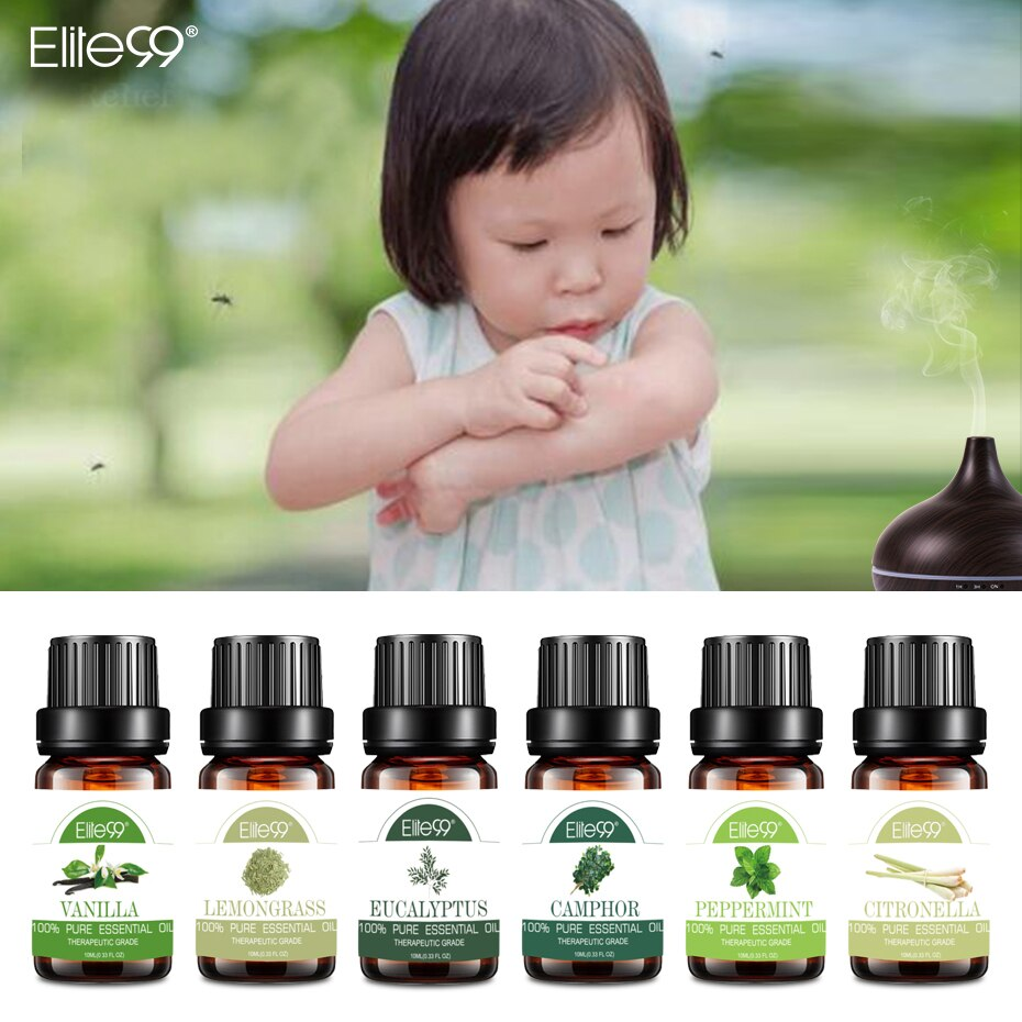 Elite99 Essential Oils Repel Mosquitoes for Spraying clothes Humidifier Vanilla Lemongrass Citronella Camphor Eucalyptus Oil