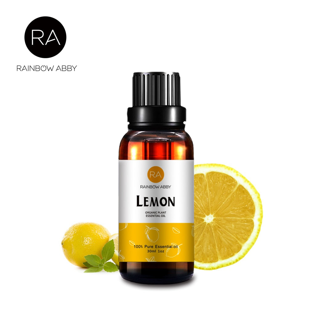 30ml Lemon Essential Oil Effectly Improve Skin Whitening Anti-wrinkle Refreshing Lemon Aroma Oil Ease Irritability Purify Air