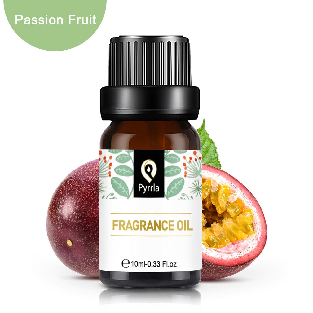 Pyrrla 10ml Flower Fruit Fragrance Essential Oils For Humidifier Diffuser Passion Fruit Citrus Lemon Lime Dewberry Oil Essential
