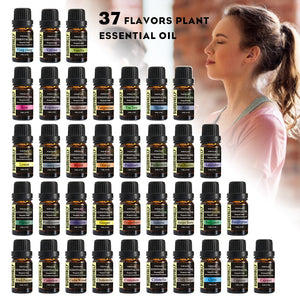 Sweetvally 37Pcs/Set Aroma Oil Natural Plant  Enhancement Essential Oil 10ml Massage Oil Skin Care Tea Tree Oil