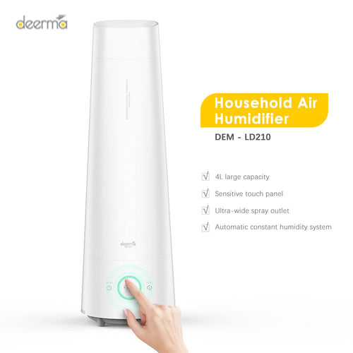 Newest Deerma DEM - LD210 Cool Mist Air Humidifier 4L Large Capacity Aromatherapy Mute Air Diffuser Purifier Low Noise For Home