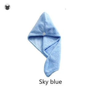 Bathroom towel for dry hair antibacterial microfiber towel hair cap shower towels for spa Quick-Dry Machine Washable hair towels
