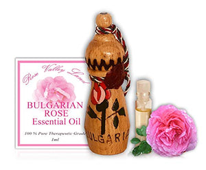 Bulgarian Rose Essential Oil (Rosa damascena) pure 100% Natural Therapeutic Grade 1ML Whitening Aromatherapy