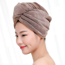 Load image into Gallery viewer, Twist Dry Shower Microfiber Hair Wrap Towel Drying Bath Spa Head Cap Hat Women