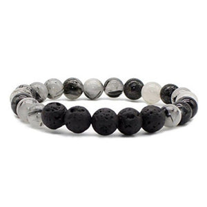 Multi- style Natural Stone Beads bracelet Natural Lava Stone Charms Diffuser Bracelet Jewelry For Unisex