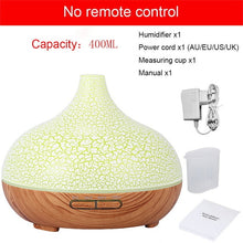 Load image into Gallery viewer, 400 ml aroma diffuser oil air humidifier ultrasonic usb essential oil diffuser wood grain colorful LED light for home office