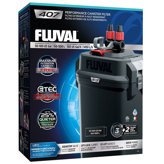 Fluval 407 Performance Canister Filter, up to 500 L (100 US gal)