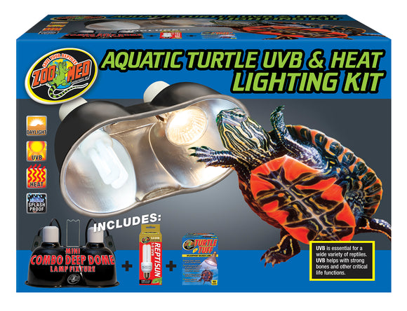 Zoo Med Aquatic Turtle UVB & Heat Lighting Kit