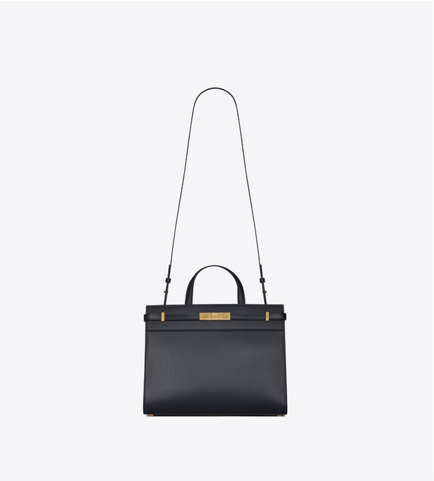 SAINT LAURENT / 생로랑 레더 맨해튼 스몰 쇼퍼백 챠콜 Manhattan small shopping in smooth leather