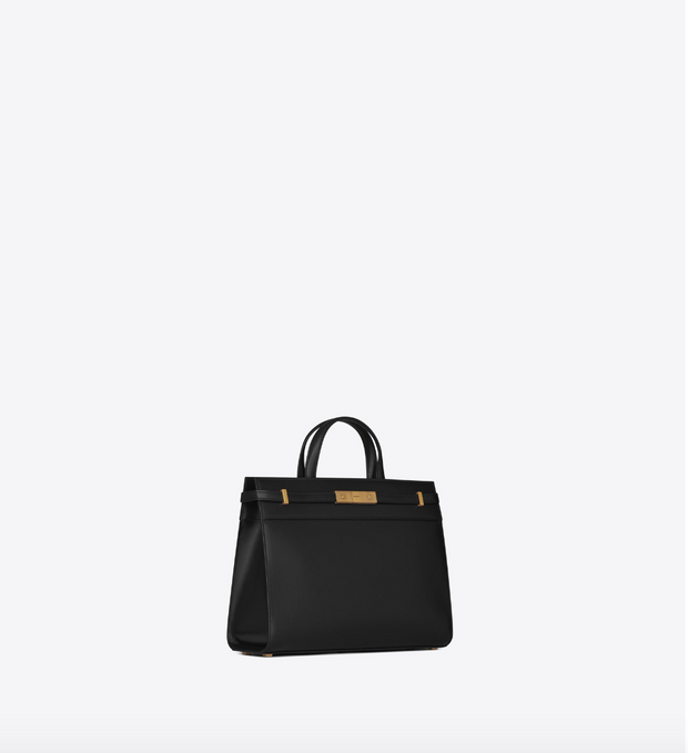 SAINT LAURENT / 생로랑 레더 맨해튼 스몰 쇼퍼백 블랙 Manhattan small shopping in smooth leather
