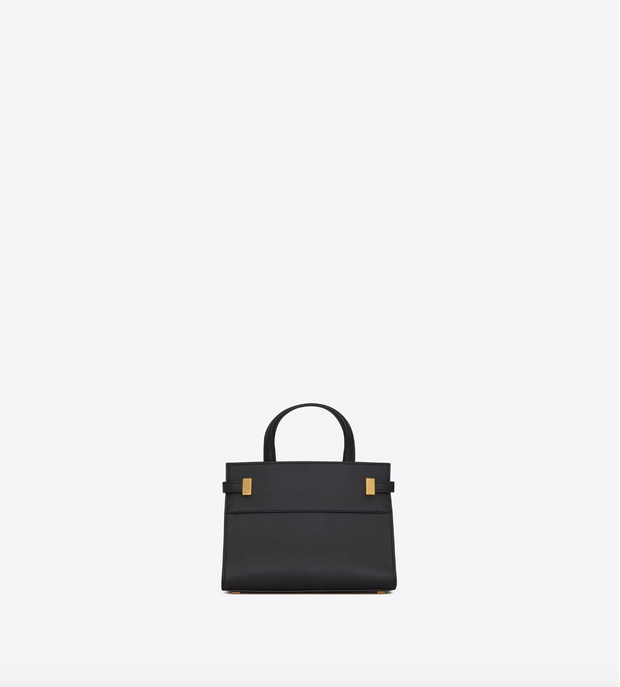 SAINT LAURENT / 생로랑 맨해튼 나노 백 그레인 엠보스 레더 블랙 Manhattan nano bag in grain de poudre embossed leather