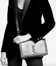 SAINT LAURENT / 생로랑 Book bag in smooth leather 챠콜