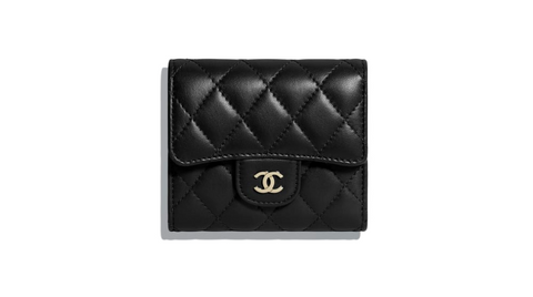 CHANEL / 샤넬 클래식 램스킨 스몰 지갑 금장 블랙 A84029 Classic small flap wallet