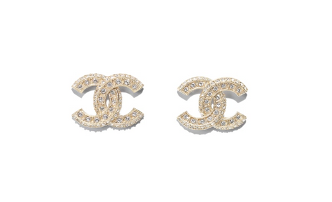 CHANEL / 샤넬 귀걸이 A86504 Earings, metal, diamantes, gold