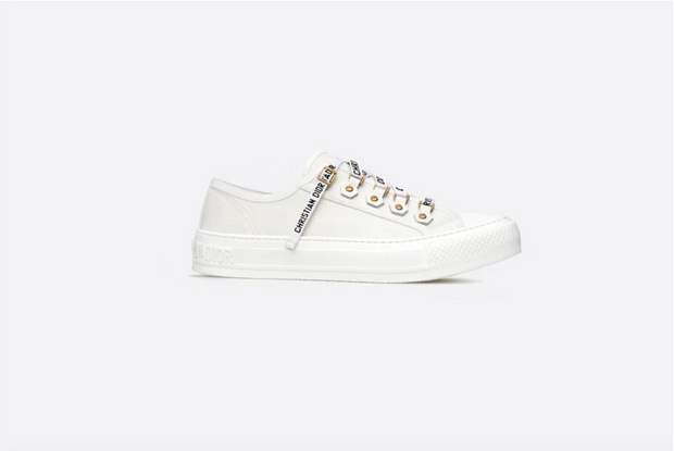 DIOR / 디올 캔버스 로우탑 스니커즈 화이트 Walk'N'dior low-top sneaker in white canvas