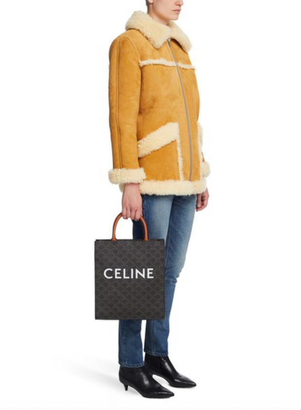 CELINE / 셀린느 버티칼 카바스백 탄 Small cabas vertical in triomphe canvas