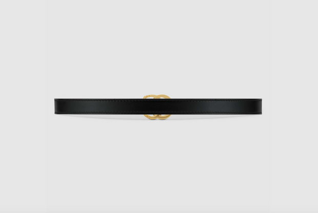 GUCCI / 구찌 더블 G 버클 여성 벨트 2cm 유광 GG Marmont leather belt with shiny buckle
