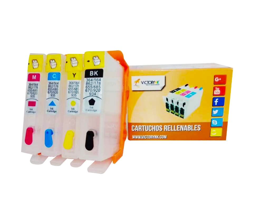 Cartucho Recargable Autoreseteable HP 904