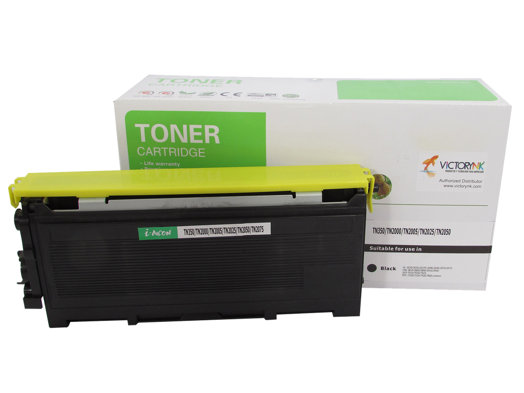 Tóner compatible nuevo genérico BROTHER tn 350 2030 2040 page 2500