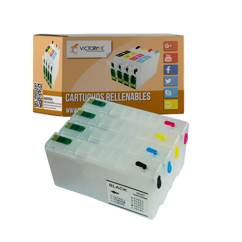 Cartucho recargable autoreseteable EPSON T 676 XL