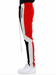 Color block motto track pants red, black and white by eptm - Mansion Boutique, Durham, NC