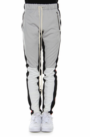 color block track pants by eptm grey , red , black - Mansion Boutique, Durham, NC