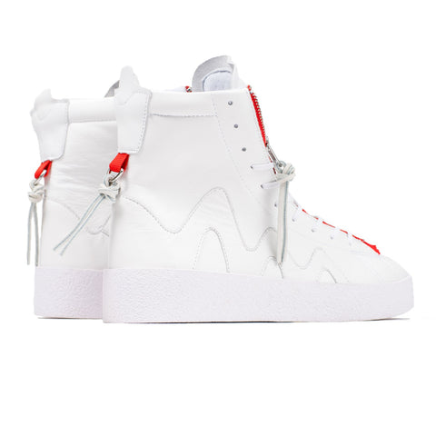 Clearweather brand  sneakers Cluth white and red High tops - Mansion Boutique, Durham, NC