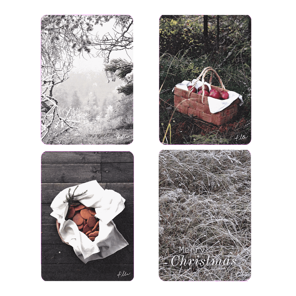 Winter -postcards 4pcs