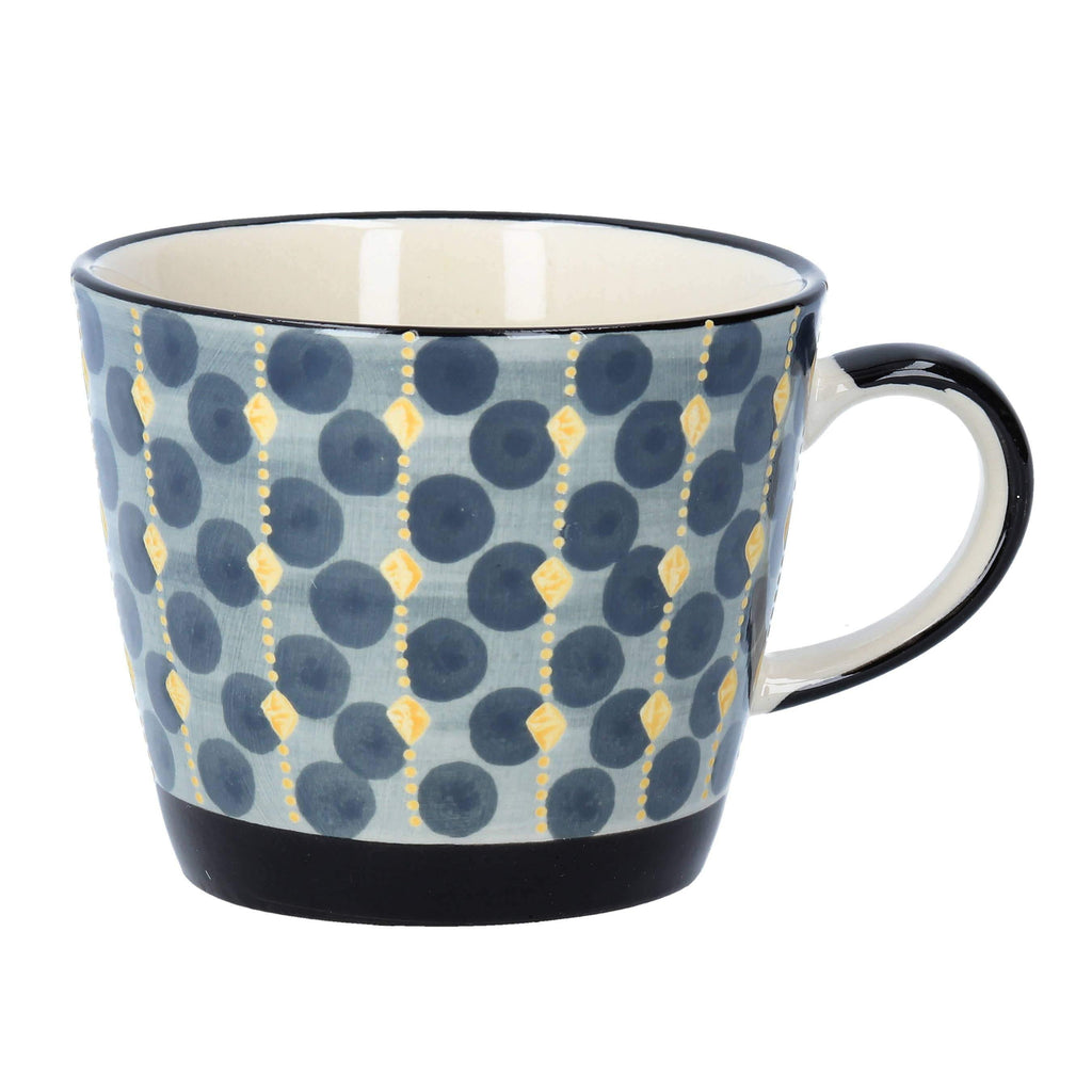 Navy Geo Ceramic Mug - The Vintage Home Studio