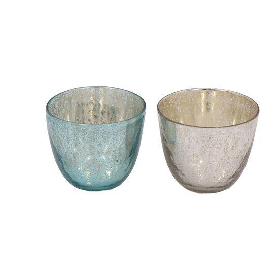 Small Mercury Glass Bowls - The Vintage Home Studio