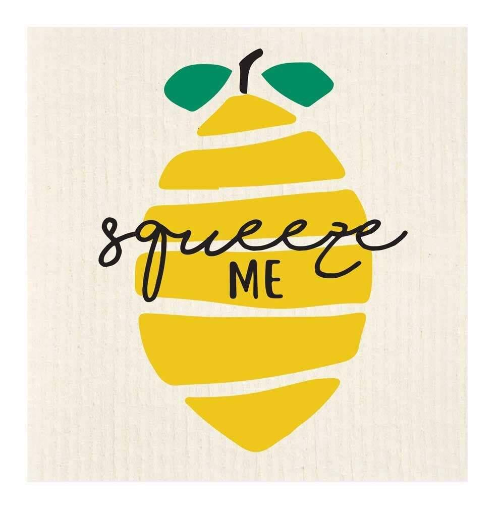 Squeeze Me Lemon Swedish Dishcloth - The Vintage Home Studio