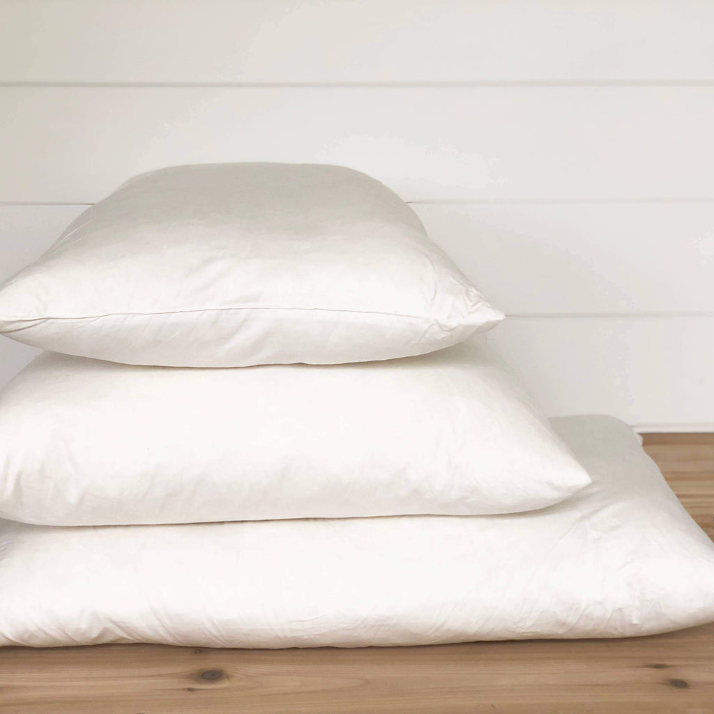 Down Pillow Inserts - The Vintage Home Studio