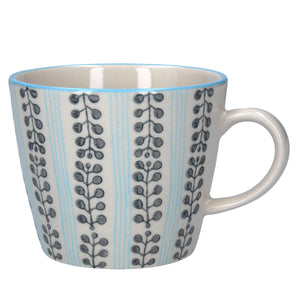 Blue Stripe Berry Ceramic Mug