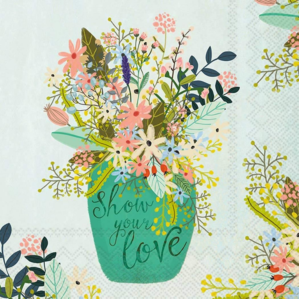 Show Your Love Paper Napkin - The Vintage Home Studio