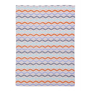 Stella Purple Red Waves Kitchen Towel