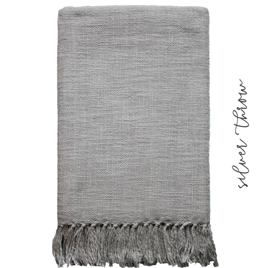 Hand Woven Throws - The Vintage Home Studio