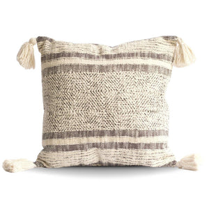Cotton Pillows with Tassels