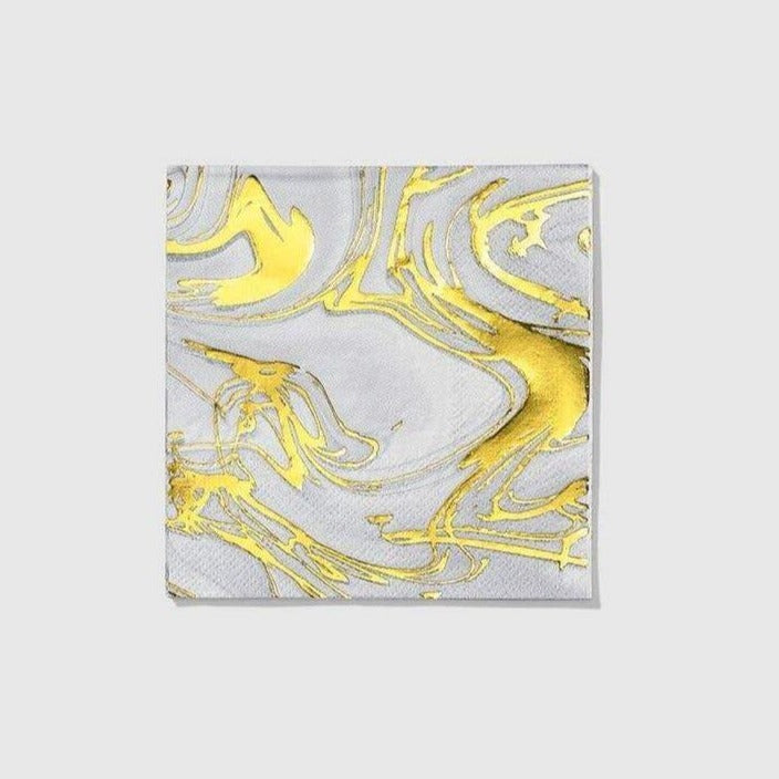 Carrara Marble Cocktail Napkins - The Vintage Home Studio