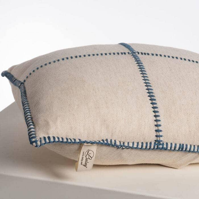 Air Blue Patchwork Pillow - The Vintage Home Studio