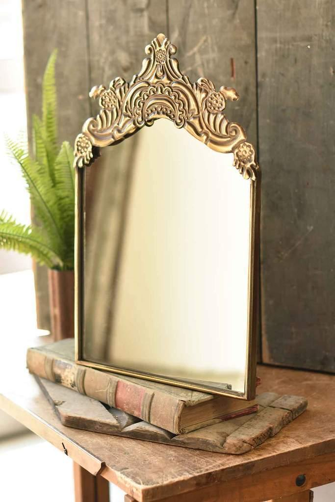 Gold Gilded Mirror - The Vintage Home Studio