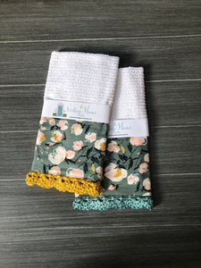 RETIRING Everlasting Blooms Crochet Kitchen Bar Mop Towel