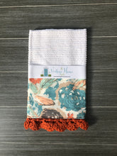 Load image into Gallery viewer, RETIRING Paper Flowers Parchment Crochet Kitchen Bar Mop Towel