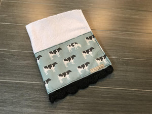 Blue and Grey Cows Crochet Kitchen Bar Mop Towel