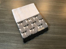 Load image into Gallery viewer, Blue and Grey Cows Crochet Kitchen Bar Mop Towel