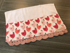 Pretty Hens Crochet Kitchen Bar Mop Towel